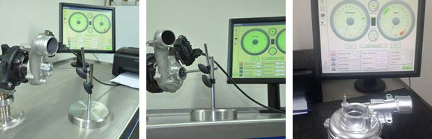Passenger light commercial turbochargers Flow Bench Set Up